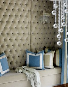 LOVE tufted backing.