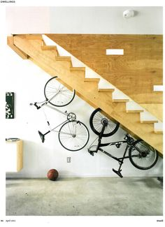 Great staircase for bike storage