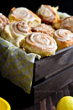 Lemon Rolls with Lemon Cream Cheese Frosting
