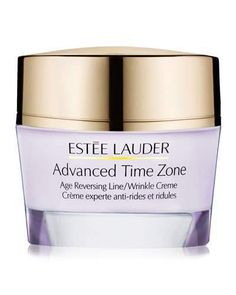 Estee Lauder Advanced Time Zone Age Reversing Line/Wrinkle Crème SPF 15, 1.7 oz, - Normal/Combination Skin  Look younger in just 5 days. Help rewind the visible signs of aging. Tested and proven: Skin looks dramatically smoother, fresher, less linedfast. Our revolutionary Tri-HA Cell Signaling Complex helps skin boost its natural production of line-plumping hyaluronic acid by 182% in just 3 days. For Normal/Combination Skin. * Women say their skin looks younger, more beautiful.