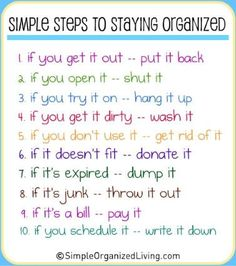 House, Home Maintenance - Stay Organized [clutter]