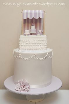 Gorgeous Cake on My Clean Plates Lavender party Cake by My Cupcake Lady  -- this appeals to me on soooo many levels!