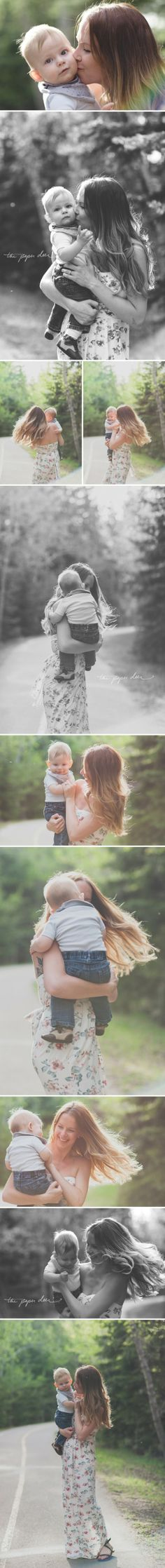 .I love these family photos--how they're less posed. Photo by Paper Deer Photography.