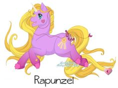 Rapunzel [as My Little Pony] (As My Little Pony by Blaiseastra @deviantART) #Tangled
