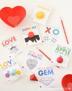 Printable non-candy Valentines. EOS lip balms and fun activities like coloring, tic tac toe and a maze.