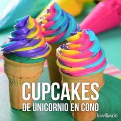 Video von Unicorn Cupcakes im Kegel, Authentic Mexican Recipes, Mexican Food Recipes, Unicorne Cake, Cupcake Cakes, Troll Cupcakes, Cupcake Videos, Unicorn Foods, Salty Cake, Savoury Cake