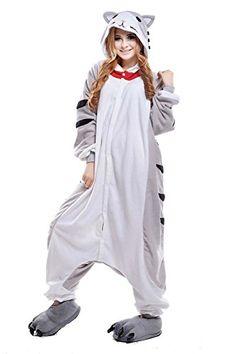 Damen Herren Unisex Adult Erwachsene K�se Katze Animal Anime Tier Weihnachten Halloween Fasching Carnival Kigurumi Cosplay Overall Pajamas Pyjamas Schlafanzug Kost�me Jumpsuit kleid Kleidung