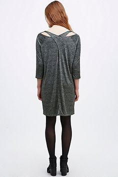 BDG Twist Back Dress in Grey Green - Urban Outfitters
