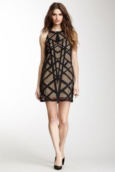 Nicole Miller Jessi Tartanian Suede Dress
