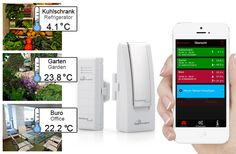 Technoline MA 10001 Mobile Alert Home Monitoring System - With Temperature Sensor, Free App Control for iOS + Android Devices