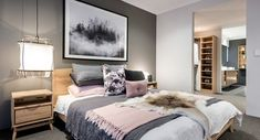 Modern grey bedroom furniture gray with regard to online small home decor inspiration ideas Modern Grey Bedroom, Grey Bedroom Furniture, Dark Furniture, Gray Bedroom, Home Furniture, Bedroom Small, Bedroom Decor For Couples, Couple Bedroom, Bedroom Ideas
