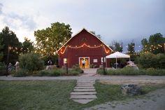 Rustic Barn wedding with lights at Denver Botanic Gardens at Chatfield Photo Credit: Nicole Dawn Photography