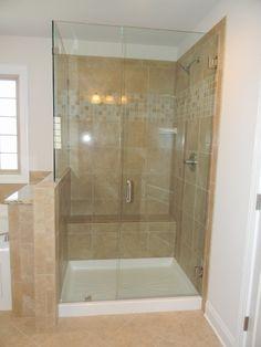 Essex Homes Frameless Shower Door #essexhomes