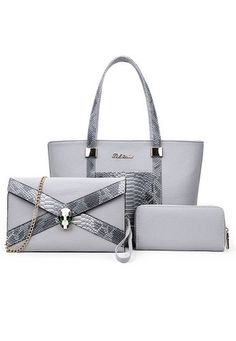 Now available on our store:Luxury Glamour Ar....Check it out here!http://lulugift.com/products/luxury-glamour-artificial-crocodile-pu-leather-3in1-set-grey-bag?utm_campaign=social_autopilot&utm_source=pin&utm_medium=pin