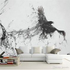 Game Of Thrones Photo Wallpaper Custom 3d Large Wall Mural Ink Art Wallpaper Room Decor Kid Bedroom Living Room Sofa Background Wall Bird From Greenho, $20.0 | Dhgate.Com