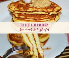 Do you want to indulge in something sweet, fluffy and buttery? Try the best keto pancakes with coconut flour. The pancakes are sugar-free, low-carb, high-fat and super easy to make. Just blend all the ingredients, cook them and enjoy keto pancakes for breakfast or as a low carb dessert.
