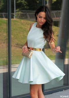 Pastel Mint Dress - Womens Fashion Clothing at Romwe.com