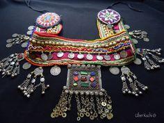 RESERVED Vintage Kuchi Studded Coin Pendant Belt Gypsy Tribal Belly Dance. $59.95, via Etsy.