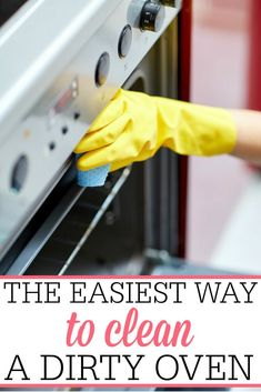 Dealing with a dirty, grimy oven? Stop ignoring it and try the easiest way to clean the oven. It really is so simple and doesn't take a lot of scrubbing.