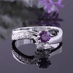 Super price ! fashion 925 silver beautiful new purple zircon ring High Quality US size 8 PCR385 ** Click on the image for additional details.
