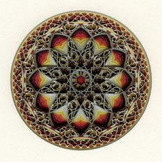 Circle 12.5.2 by Eric Standley (carved from layers and layers of colored paper)