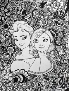 Elsa and Anna Design by byjamierose on Etsy