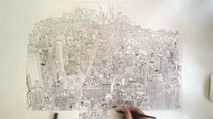 Empire State of Pen – pen and ink of Manhattan by Patrick Vale