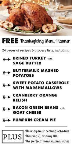 FREE Thanksgiving Menu Planner- 24 page PDF | Modern Parents Messy Kids