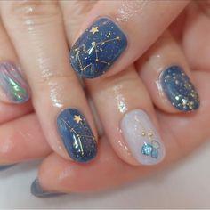 Blue Nails Ideas With Details Girl Pretty Aesthetic Credits to the owner Minimalist Nails, Cute Acrylic Nails, Acrylic Nail Designs, Pastel Nail, 3d Nails, Stylish Nails, Trendy Nails, Hello Nails, Asian Nails