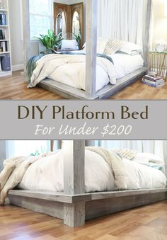 diy platform bed frame - diy platform bed & diy platform bed with storage & diy platform bed queen & diy platform bed king & diy platform bed full & diy platform bed twin & diy platform bed with storage queen & diy platform bed frame Diy Furniture Projects, Bedroom Furniture, Home Furniture, Bedroom Decor, Antique Furniture, Rustic Furniture, Diy Projects, Luxury Furniture, Modern Furniture