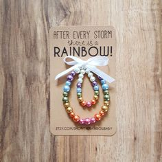 Mommy & Me Rainbow Baby Stretch Bracelet Set, Baby Shower Gift, Photo Prop Beautiful glass bead stretch bracelets for you and your rainbow baby! This set makes a wonderful gift set for a baby shower, birth and maternity or newborn photo shoot!