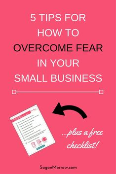 Tired of letting fear hold you back from making your dreams a reality? Learn exactly how to overcome fear in your small business with this 5-step process! Click on over to get the goods now... | Trending | 2018 Trends