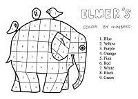 love Elmer. I have a manila folder template I use for Elmer - Have kids glue…