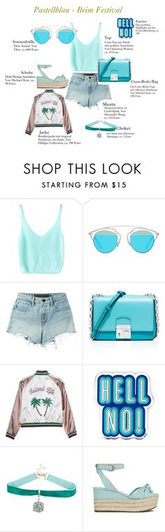 """""""Schnell Pastell! Pastellblau"""" by thegoldenbazaar on Polyvore featuring Mode, Christian Dior, T By Alexander Wang, Michael Kors und Anya Hindmarch"""