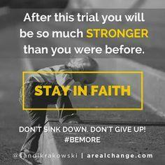 Stay in faith