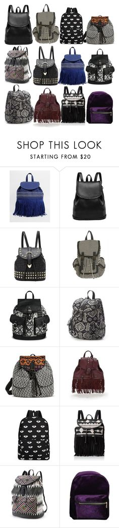 """""""Aria Montgomery inspired backpacks"""" by liarsstyle ❤ liked on Polyvore featuring Yoki, Madden Girl, Under One Sky, Mudd, Glamorous, Candie's, bags and accessories"""
