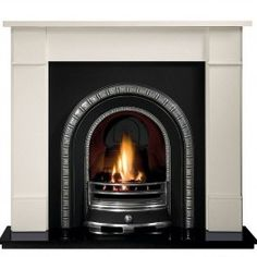 Price Freeze   Gallery Brompton Stone Fireplace Includes Henley Cast iron Arch   Free Delivery