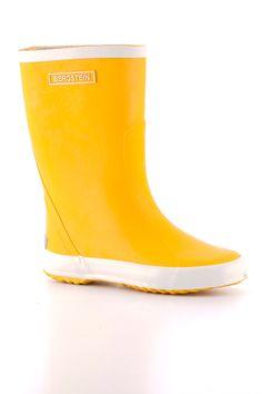 Bergstein rubberen regenlaars geel