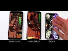Galaxy PLus VS Huawei Pro VS Iphone X - Performance Comparison Check out the comparison of the three top flagship phones of today, all have amazing ca. Phone Hacks, 3 Things, Gadgets, Iphone, War, Gadget