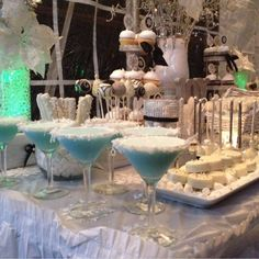 Pretty drinks at a Christmas party!  See more party ideas at CatchMyParty.com!  #partyideas #christmas