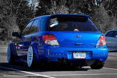 Subaru Impreza WRX Wagon, love the flares!! But ruined by that awful stance