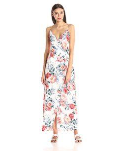 MINKPINK Women's Little Blooms Maxi Wrap Dress: Amazon Fashion
