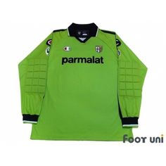 Photo1: Parma 2003-2004 L/S GK Shirt #34 Amelia Lega Calcio Serie A Tim Patch/Badge + 90th Anniversary 1913-2003 Patch/Badge CHAMPION - Football Shirts,Soccer Jerseys,Vintage Classic Retro - Online Store From Footuni Japan