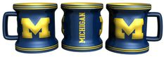 Michigan Wolverines Mini Sculpted Mug Shot Glass - Navy