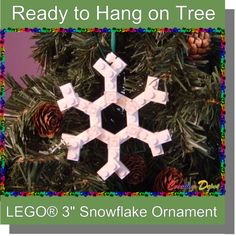 Lego christmas winter ornament-for Mason's Christmas tree Lego Christmas Ornaments, Hanging Christmas Tree, Christmas Crafts For Kids, Christmas Activities, Xmas Crafts, Holiday Fun, Christmas Holidays, Diy Ornaments, Holiday Decor
