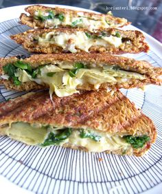 artichoke, spinach and grilled cheese toasts!