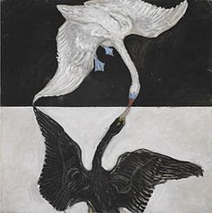 Hilma af Klint  Svanen, nr 1, grupp IX/SUW,  serie SUW/UW, 1915 © Stiftelsen Hilma af Klints Verk  Foto: Moderna Museet, Albin Dahlström