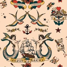 sailor tattoo pattern #piel #shoppiel #inspiration