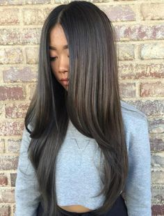 Asian Long Straight Hairstyle