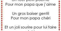 """Résultat de recherche d'images pour """"poeme pour papa gentil"""""""